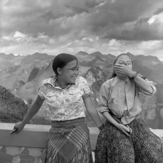 Two H'Mong Young Girls